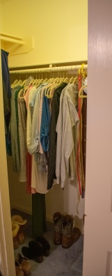 Far less clothes than what I started with!